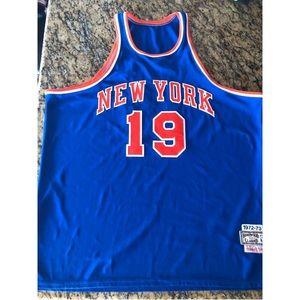 Willis Reed Mitchell & Ness NY Knicks Jersey 56